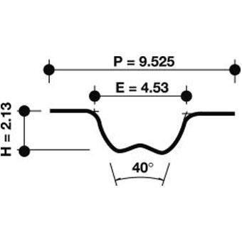 Dayco Timing Belt 94513 Sparesbox - Image 1