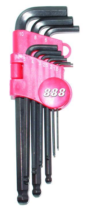 888 By SP Tools Key Set 9Pc Metric Ball Drive Hex Sparesbox - Image 1
