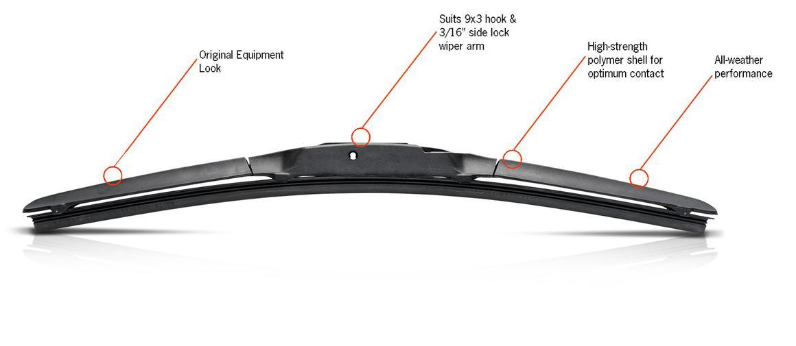 Trico Exact Fit Hybrid WIper Blade 650mm HF650 Sparesbox - Image 3